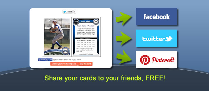 Mytradingcardscom Make Your Custom Trading Cards